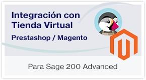 Enlace con tienda virtual Magento